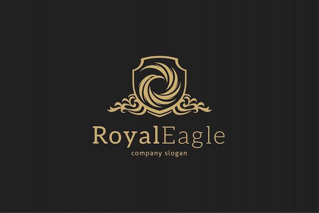Modelo de logotipo de águia real