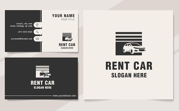 Modelo de logotipo de aluguel de carro em estilo monograma