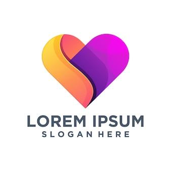 Modelo de logotipo de amor criativo