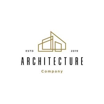 Modelo de logotipo de arquitetura de construção