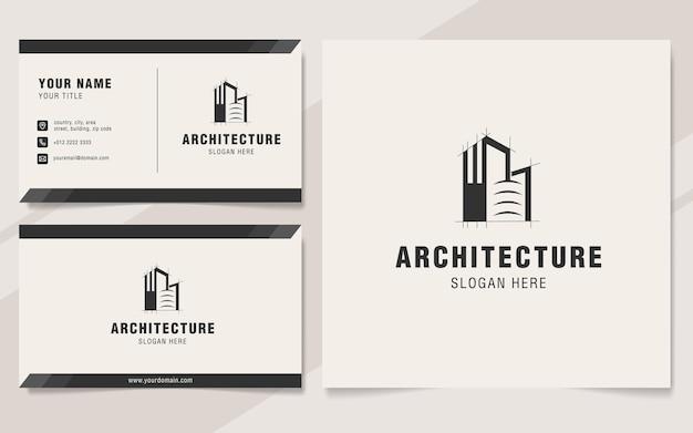 Modelo de logotipo de arquitetura moderna