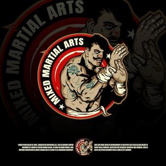 Modelo de logotipo de arte marcial