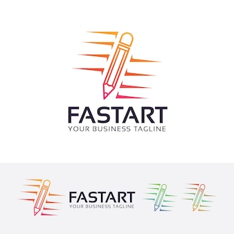 Modelo de logotipo de arte rápida