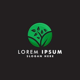 Modelo de logotipo de árvore, ambiente