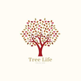 Modelo de logotipo de árvore da natureza da empresa folhas de primavera