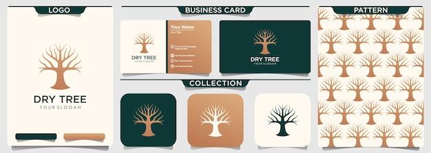 Modelo de logotipo de árvore seca.