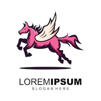 Modelo de logotipo de asas de cavalo