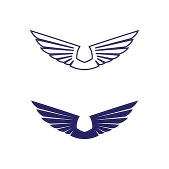 Modelo de logotipo de asas de falcão ícone logotipo app de design