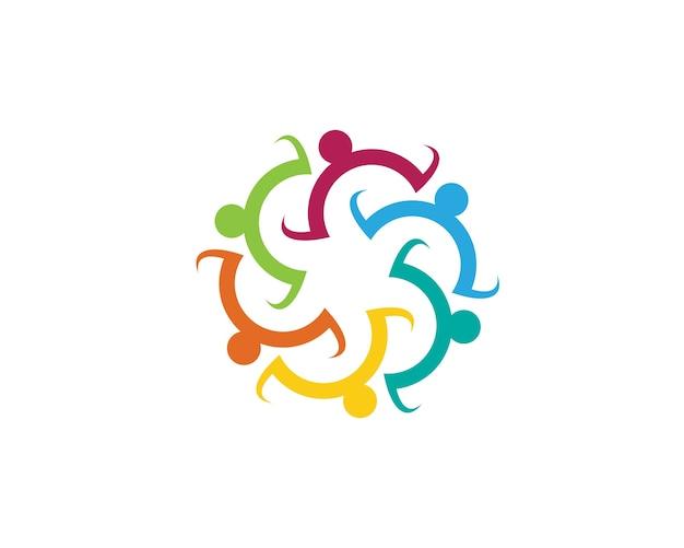 Modelo de logotipo de assistência comunitária