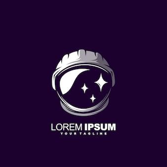 Modelo de logotipo de astronauta