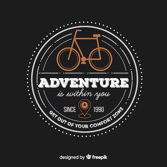 Modelo de logotipo de aventura vintage