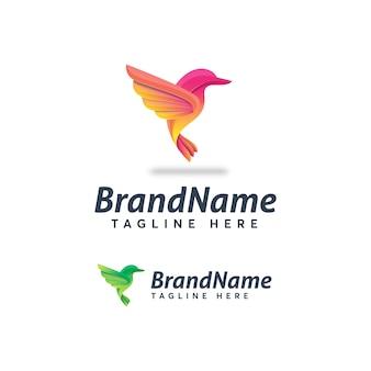 Modelo de logotipo de aves ícone de ilustração