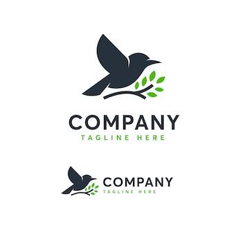 Modelo de logotipo de aves