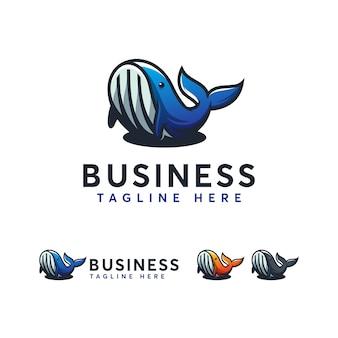 Modelo de logotipo de baleia