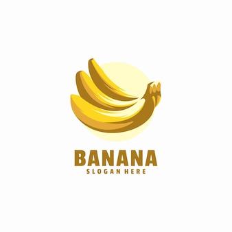 Modelo de logotipo de banana