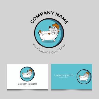Modelo de logotipo de banho para animais de estimação