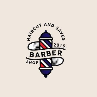 Modelo de logotipo de barbeiro