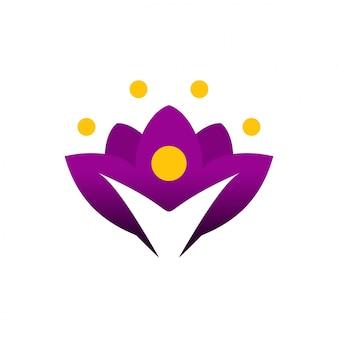Modelo de logotipo de beleza e salão