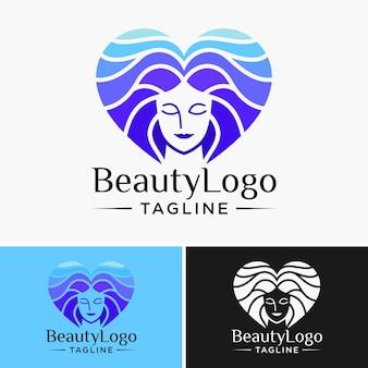 Modelo de logotipo de beleza natural