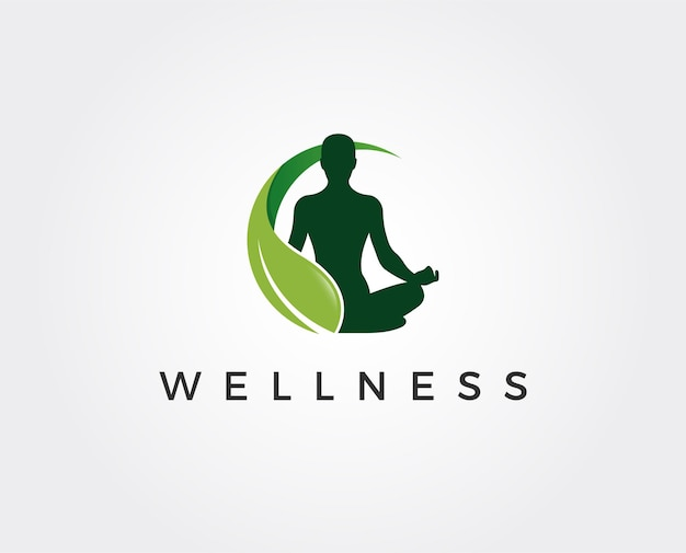 Modelo de logotipo de bem-estar mínimo