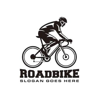 Modelo de logotipo de bicicleta de estrada