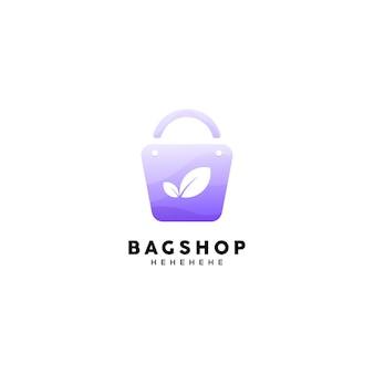 Modelo de logotipo de bolsa de compras