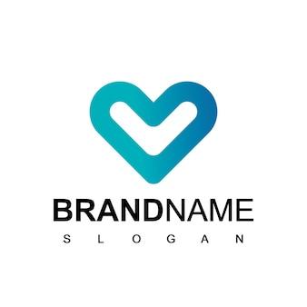 Modelo de logotipo de bom coração