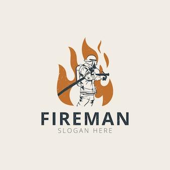 Modelo de logotipo de bombeiro