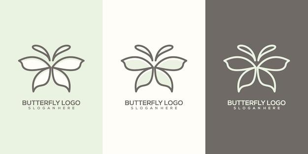 Modelo de logotipo de borboleta