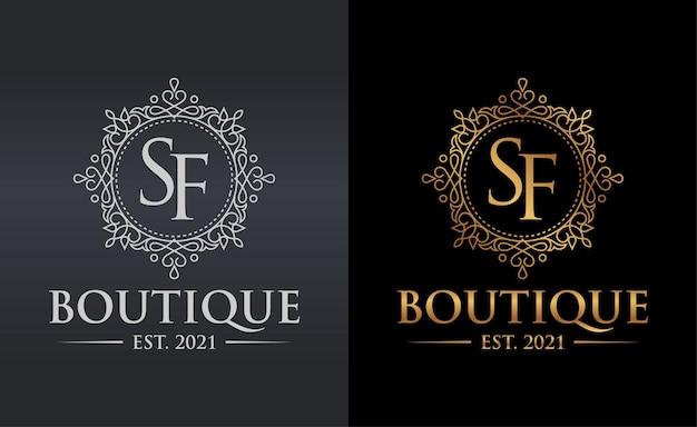 Modelo de logotipo de boutique de luxo