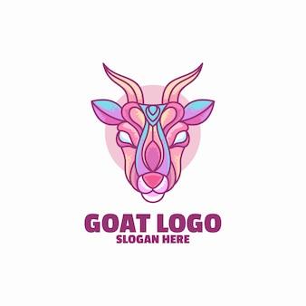 Modelo de logotipo de cabra