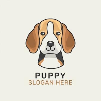 Modelo de logotipo de cachorro beagle