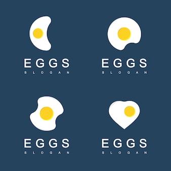 Modelo de logotipo de café da manhã de ovo