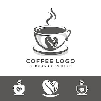 Modelo de logotipo de café