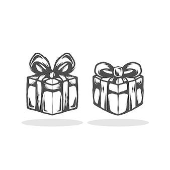 Modelo de logotipo de caixa de presente