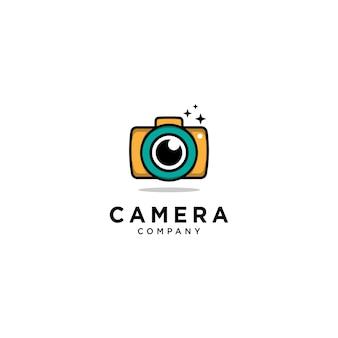Modelo de logotipo de câmera