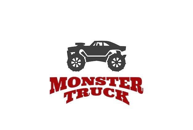 Modelo de logotipo de caminhão monstro