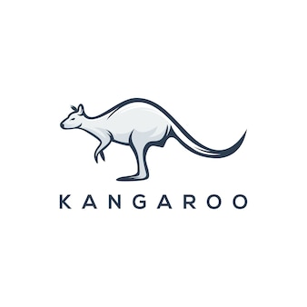 Modelo de logotipo de canguru