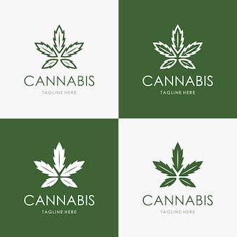 Modelo de logotipo de cannabis