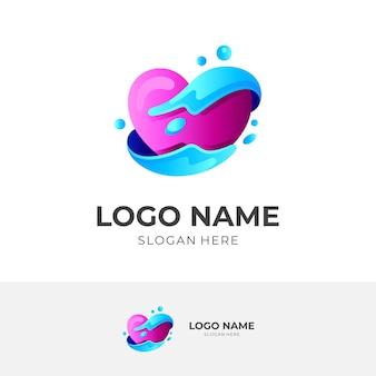 Modelo de logotipo de caridade, ícone social, estilo colorido