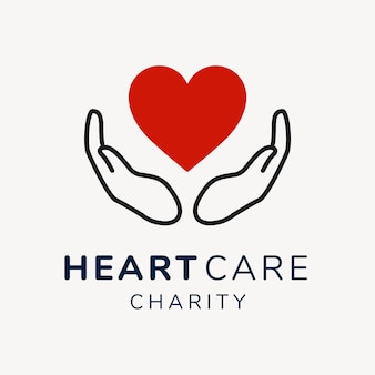 Modelo de logotipo de caridade, vetor de design de marca sem fins lucrativos
