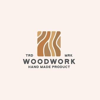 Modelo de logotipo de carpintaria