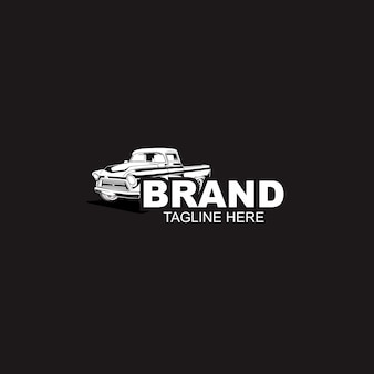 Modelo de logotipo de carro automotivo preto e branco