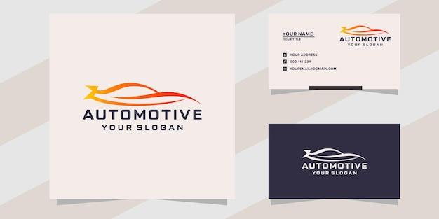 Modelo de logotipo de carro automotivo