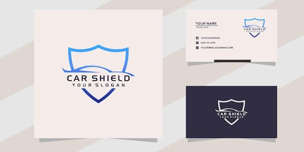 Modelo de logotipo de carro com escudo