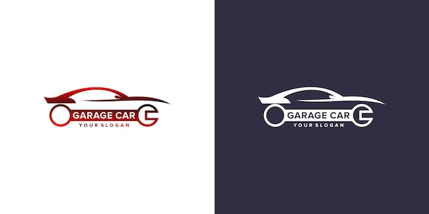 Modelo de logotipo de carro de garagem