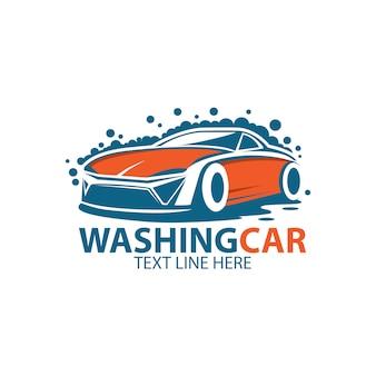Modelo de logotipo de carro de lavagem
