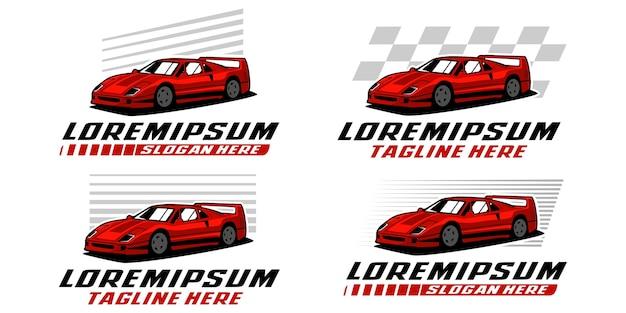 Modelo de logotipo de carro esporte