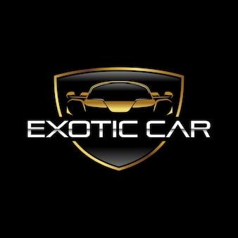 Modelo de logotipo de carro exótico