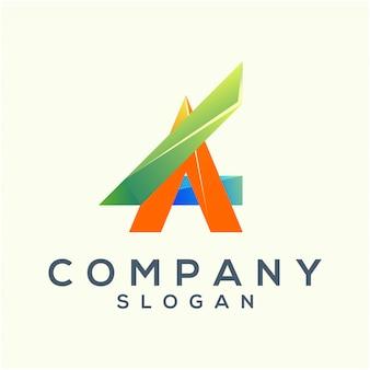 Modelo de logotipo de carta abstrata
